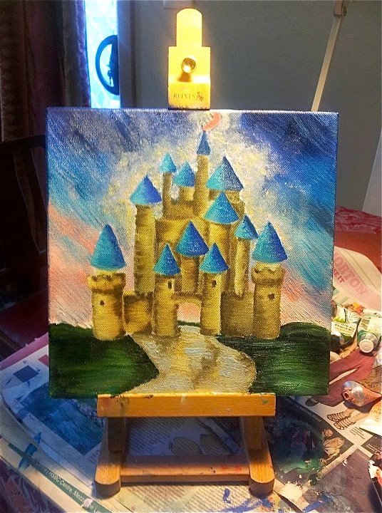 Gallery For gt Easy Disney Castle Painting